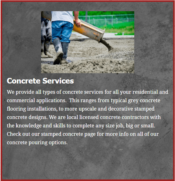 concrte paving contractor